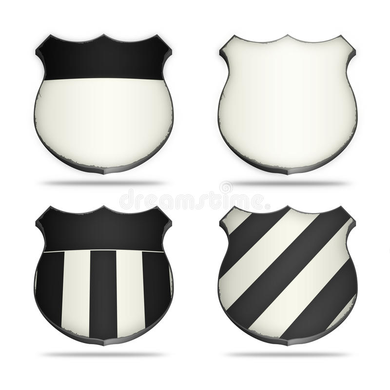 White&Black shields stock photography