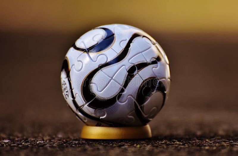White and Black Soccer Ball stock image