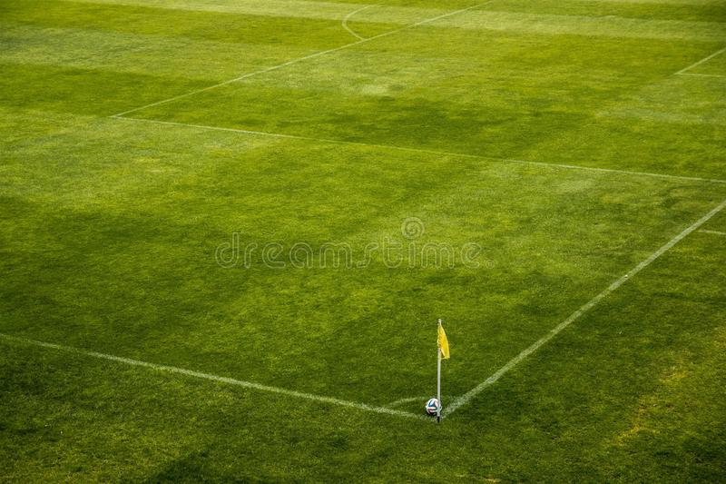 White and Black Soccer Ball on Side of Green Grass Field during Daytime stock photos