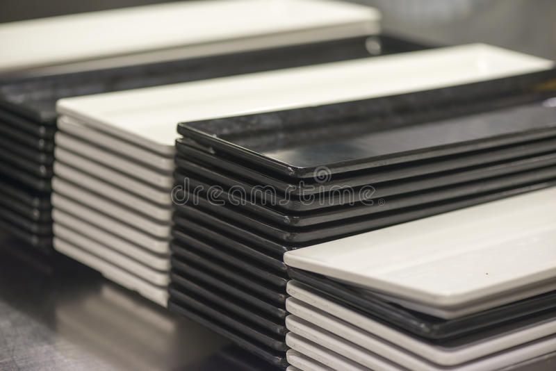 Download White And Black Square Plates Stock Photo - Image of china clean 45091788 & White And Black Square Plates Stock Photo - Image of china clean ...