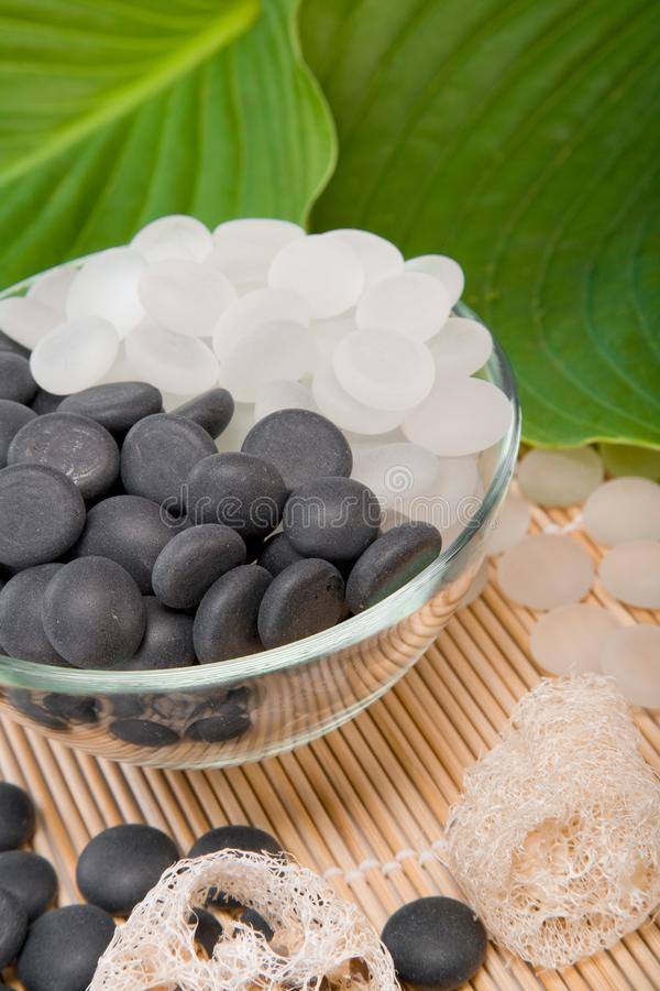 White and black stones stock image