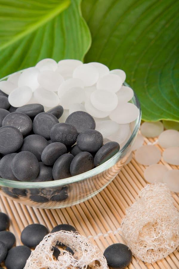 White and black stones stock image