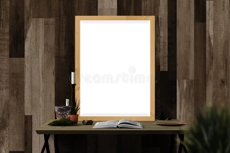 White and Black Vanity Table Near Wll royalty free stock images