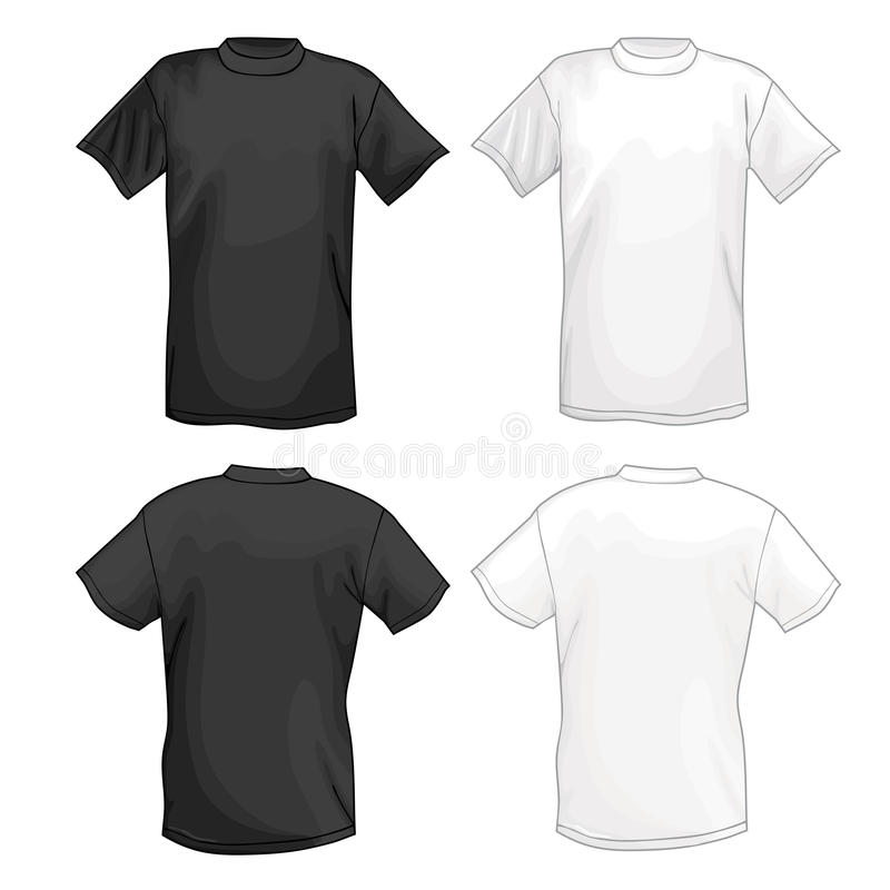 White And Black Vector T-shirt Design Template (front