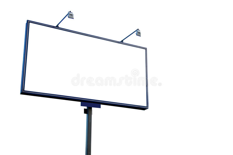 Download White blank billboard stock image. Image of announcement - 12073089