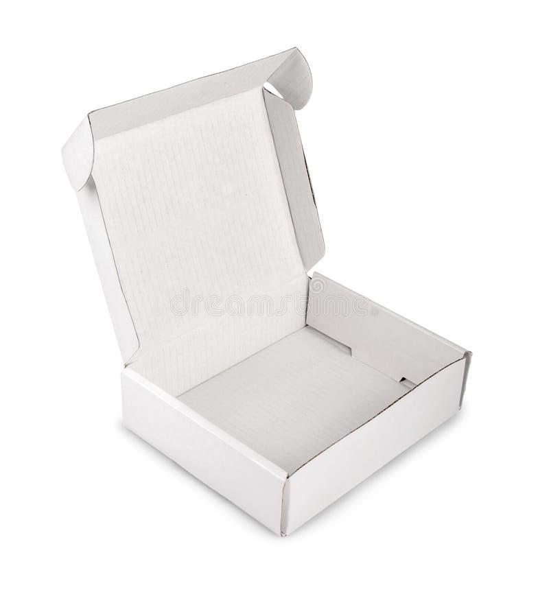 White blank box isolated on white background royalty free stock photography