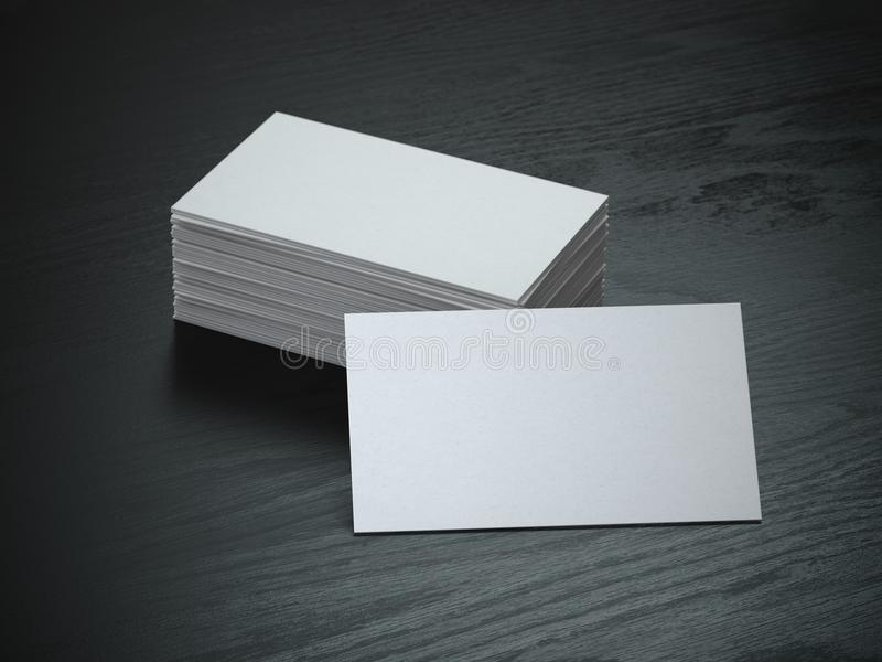 White blank business cards mockup on black wood table background download white blank business cards mockup on black wood table background stock illustration illustration of reheart Gallery