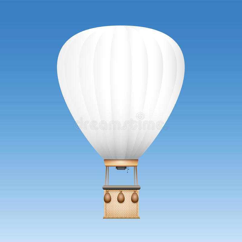 White Blank Captive Balloon. Captive balloon with white surface to be used as advertising space for text, images or your company logo - vector illustration on royalty free illustration