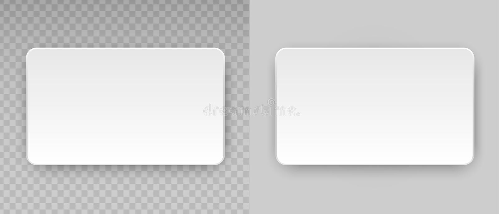 White Blank Horizontal Plastic Paper Business Card Or Name Credit