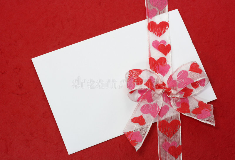 White Blank Note On Red Stock Photography
