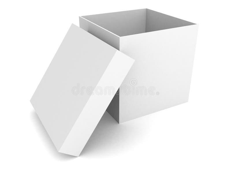 White Blank Open Box Over White Background Stock Photos