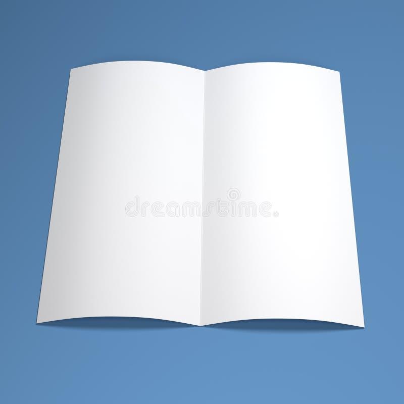 White blank paper brochure royalty free illustration