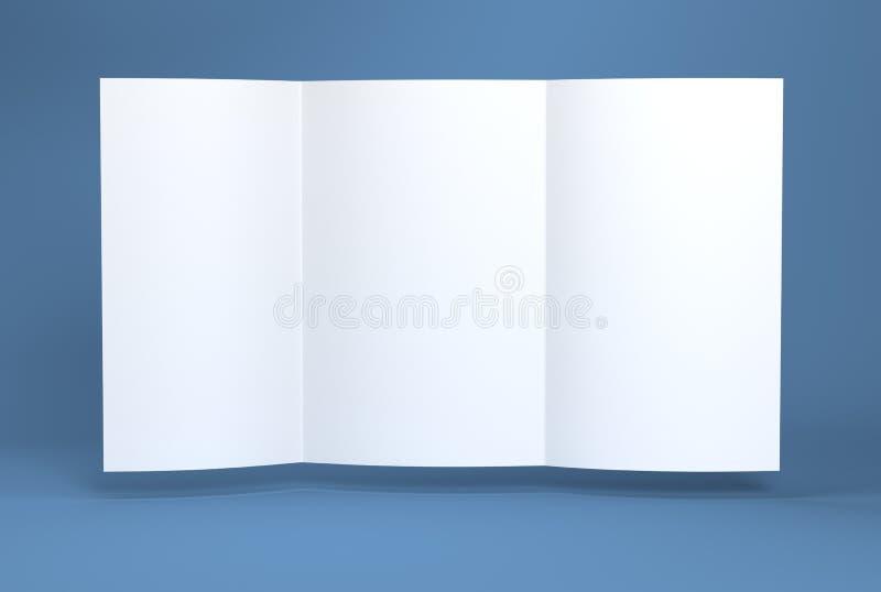 White blank paper brochure stock illustration