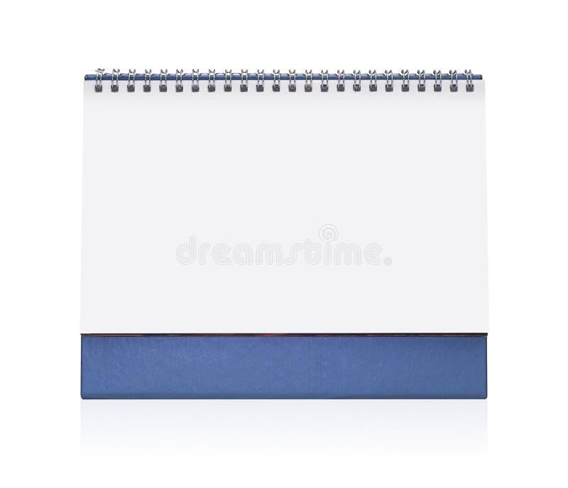 Blank paper desk spiral calendar stock photos