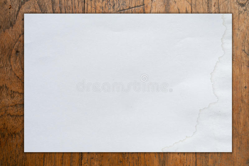 Marvelous Download White Blank Paper On Wood Background Stock Photo   Image Of Page,  Crease:  Blank Paper Background