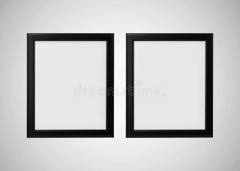 Photo Frame on Grey Wall vector illustration