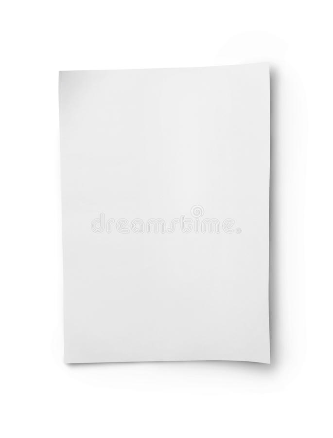 White blank sheet of paper royalty free stock images