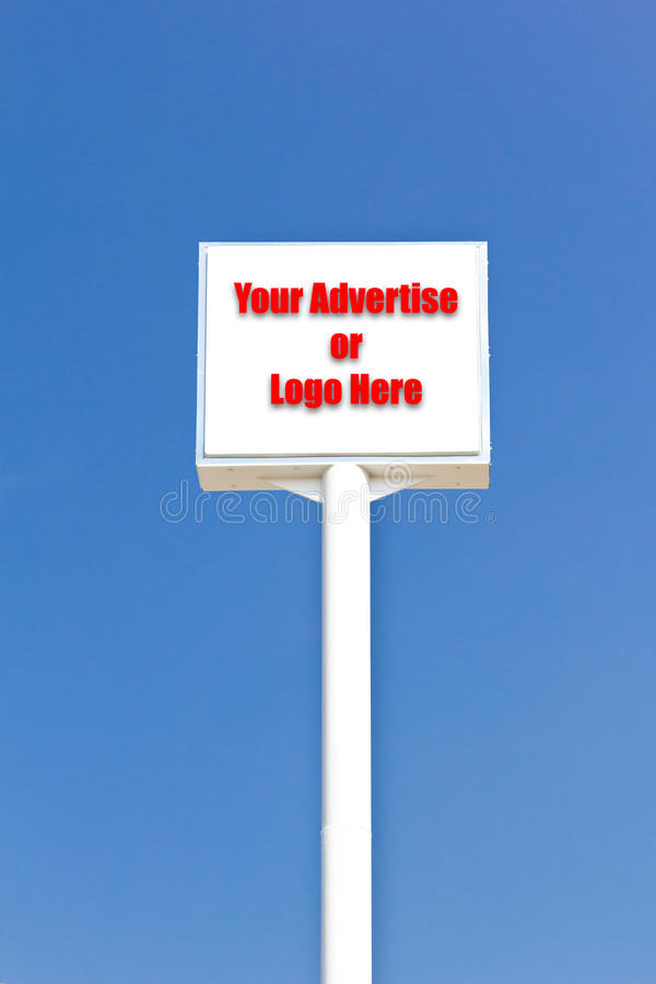 Download White Blank Sign , Useful For Any Advertise Or L Stock Image - Image: 18152175