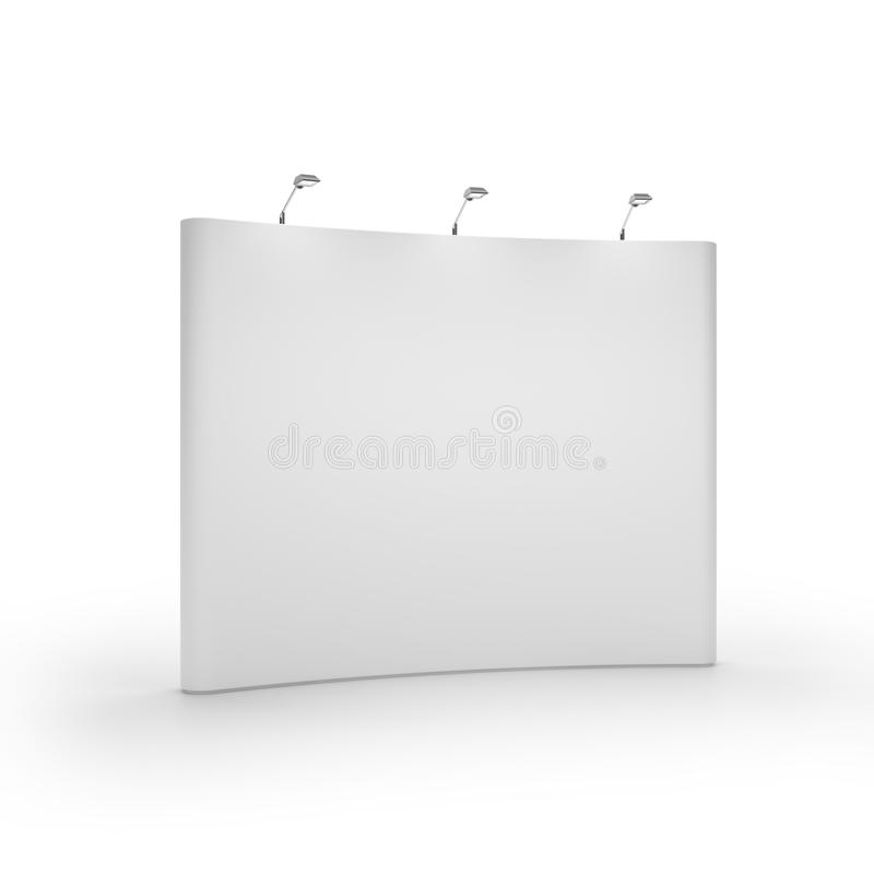 White blank trade show booth. Isolated on white background vector illustration