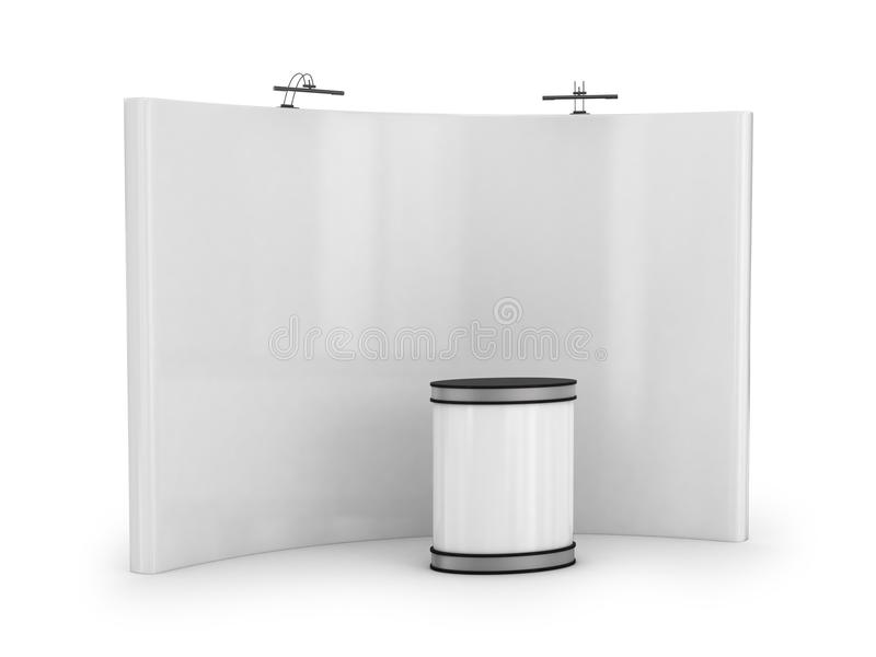 White blank trade show booth vector illustration