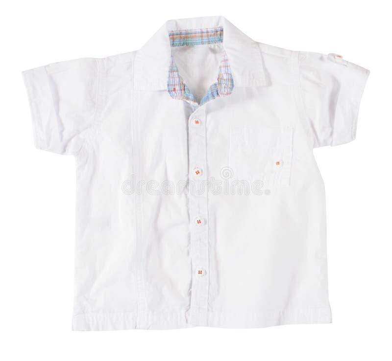 White blouse. White blouse isolated over white royalty free stock photos