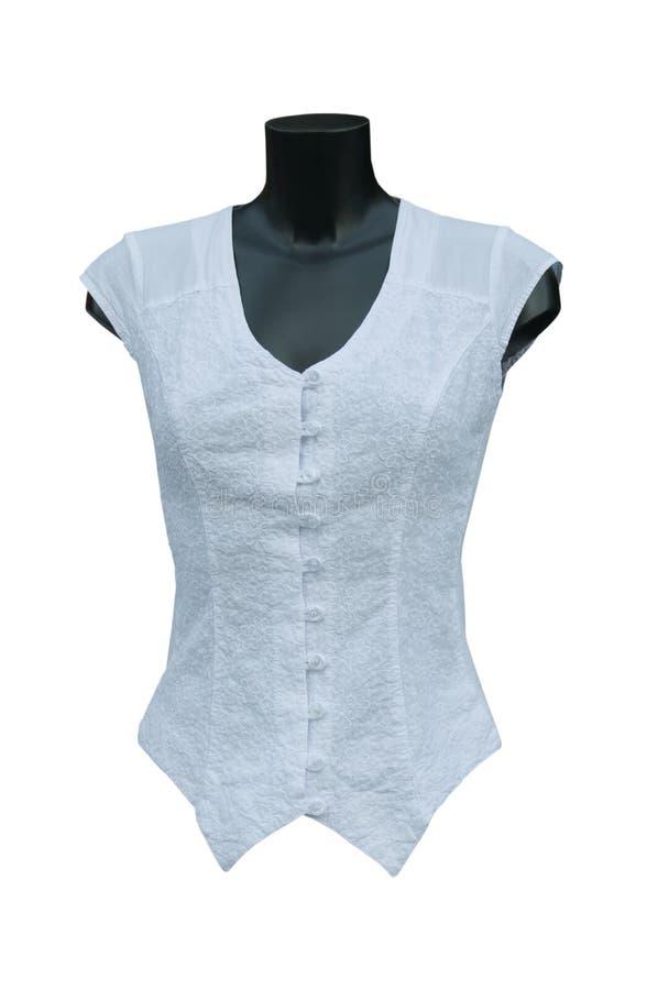 White blouse. On a white background stock photo