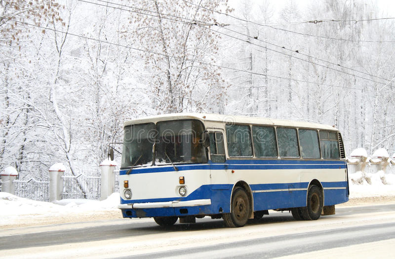 Download White and blue bus stock photo. Image of wood, transportation - 17895302