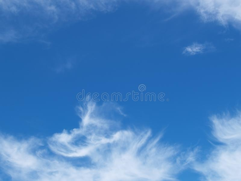 White and Blue Cloudy Sky stock photos