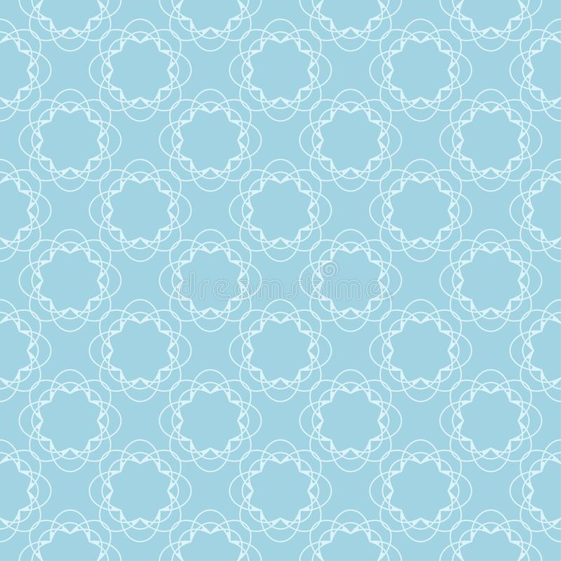 White and blue floral seamless pattern royalty free illustration