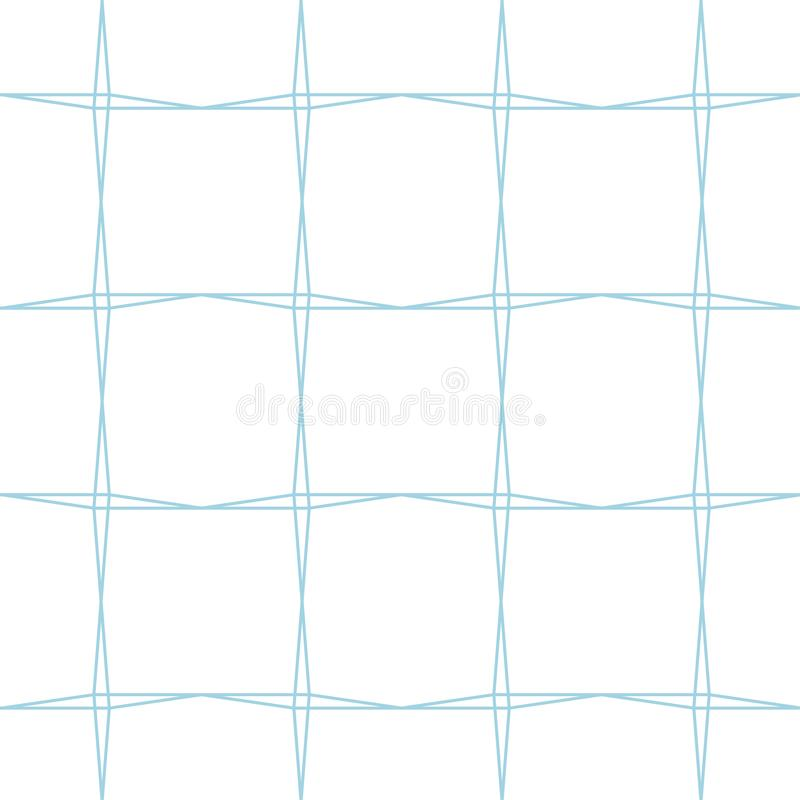 White and blue geometric ornament. Seamless pattern royalty free illustration
