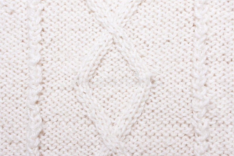 White blue knitted texture with pattern. Wool jersey background stock photos