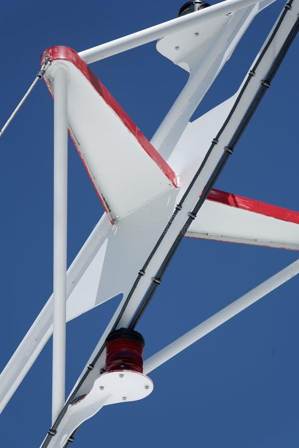 White On Blue Mast Stock Image