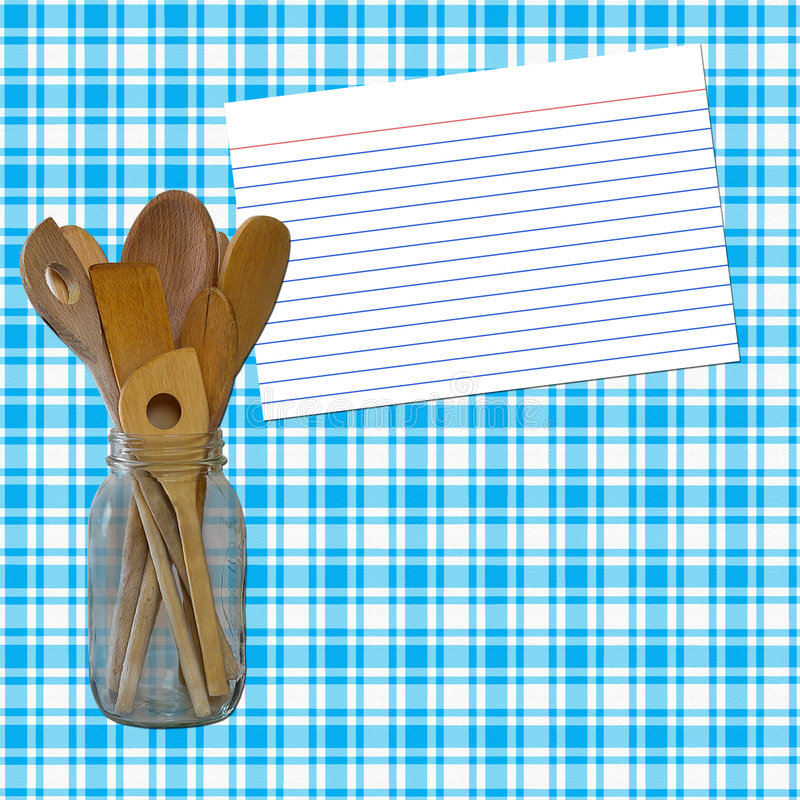 Download White And Blue Plaid Recipe Royalty Free Stock Photos - Image: 967448