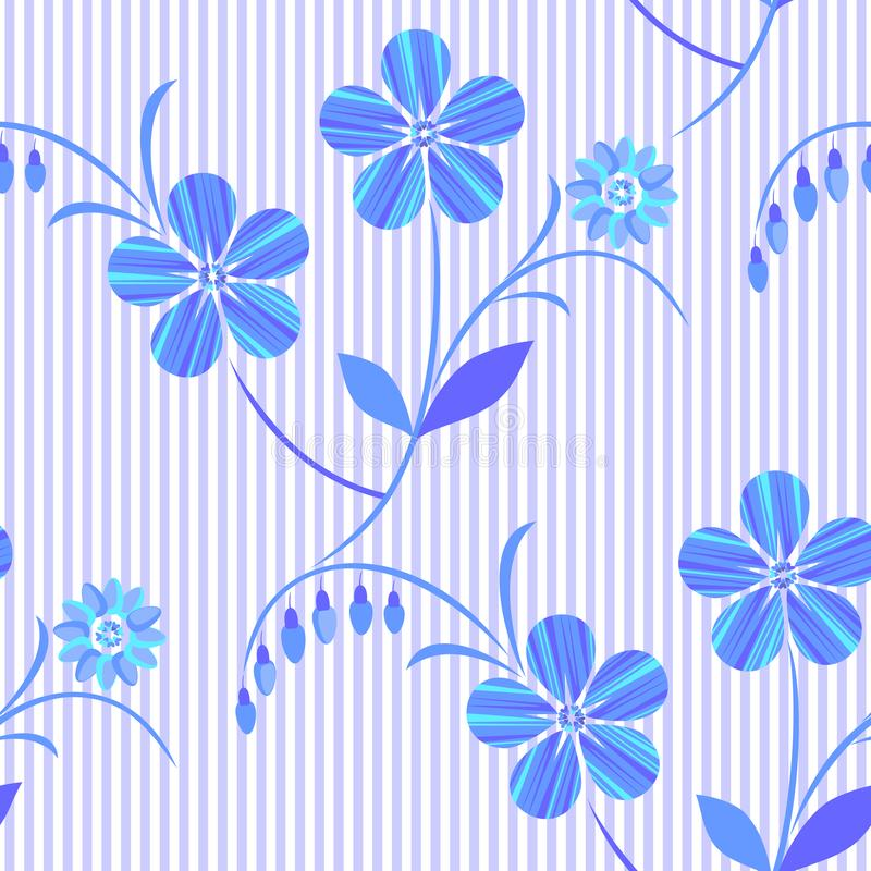 White-blue seamless floral pattern. Vector. vector illustration