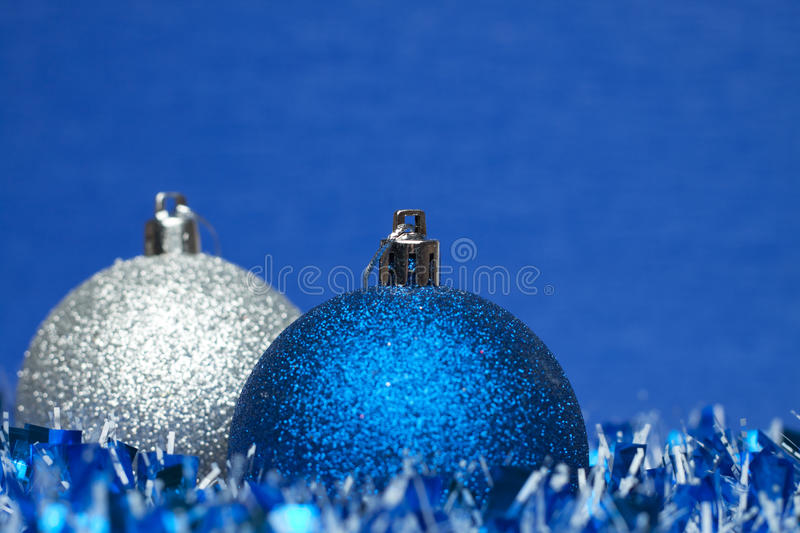 Download White And Blue Shiny Christmas Balls Royalty Free Stock Image - Image: 17513056