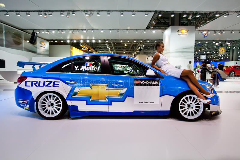 White And Blue Sport Car Chevrolet Cruze Editorial Photography