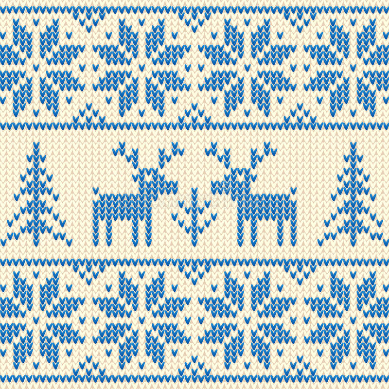 Download White And Blue Sweater With Deer Vector Ornament Stock Images - Image: 27684344