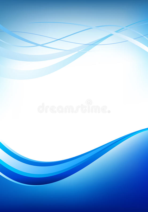 White blue template royalty free illustration