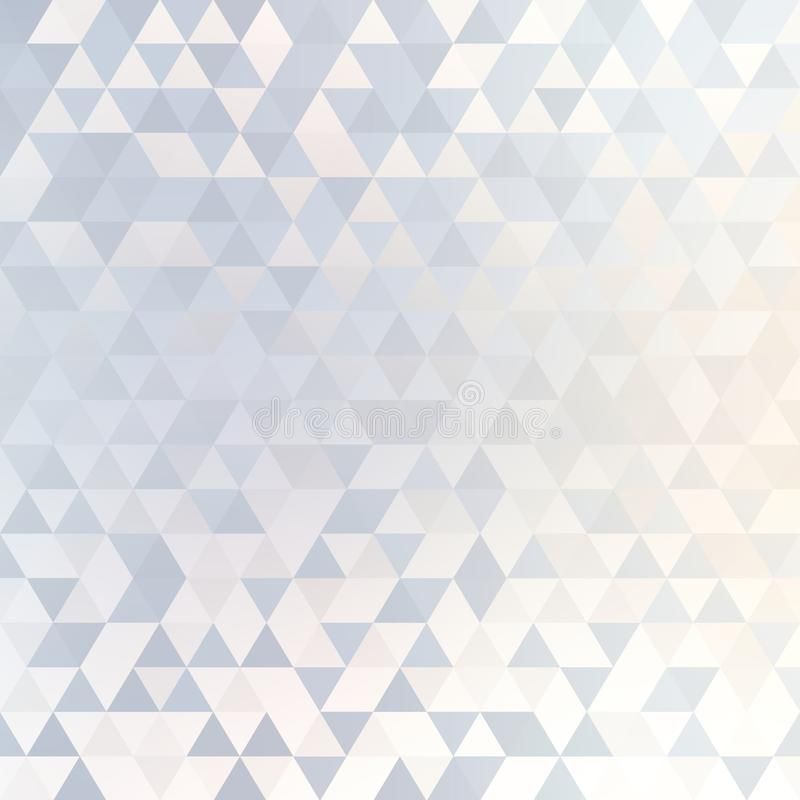 White and blue trangles abstract brilliance background. Poligonal subtle pattern. Light geometric texture. Background or texture is the best illustration for royalty free illustration