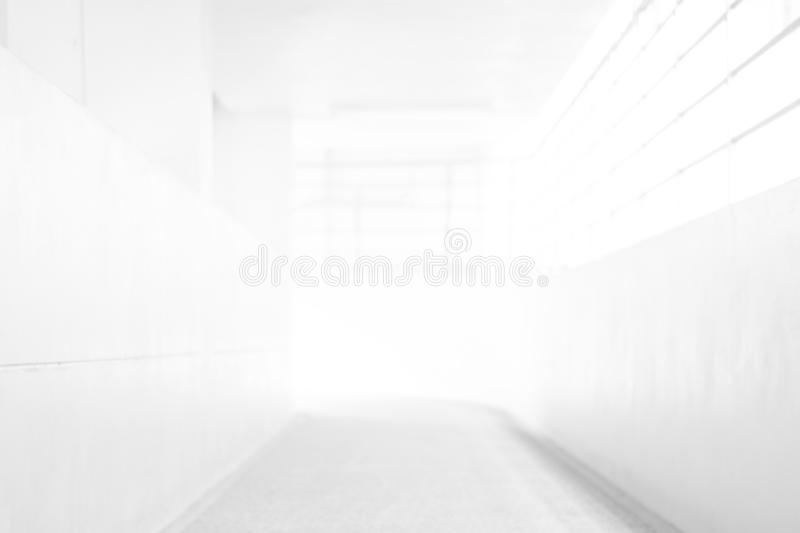 White Blur Abstract Background From Building Hallway for corridor building background. White Blur Abstract Background From Building Hallway for corridor building stock photo
