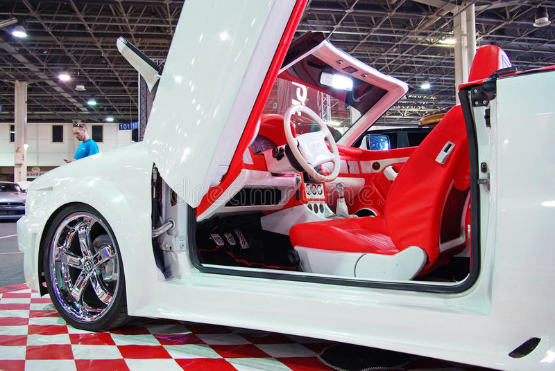 White BMW Cabrio Editorial Stock Photo