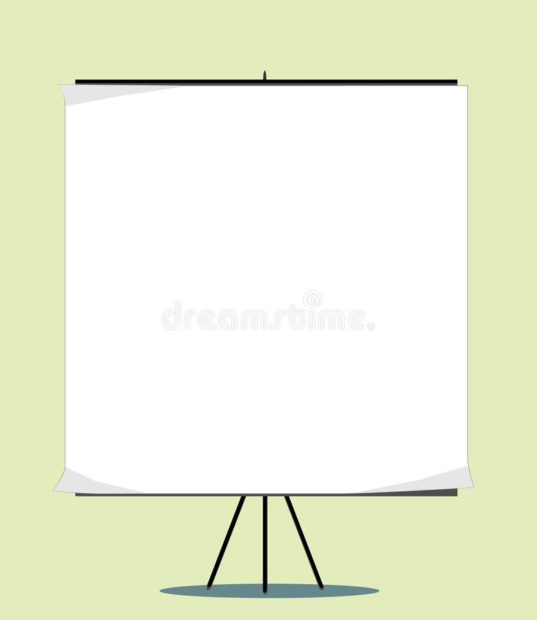 White board with empty space for your message stock illustration