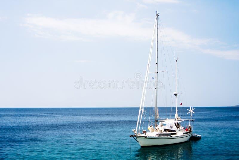 White boat stock photos