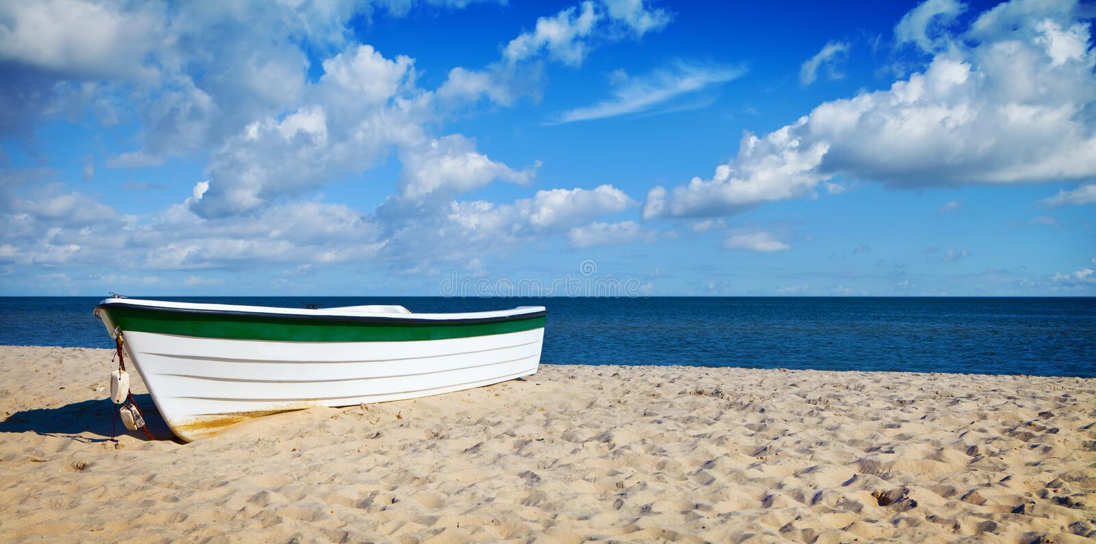 Download White Boat stock image. Image of holiday, beach, seascape - 24090819