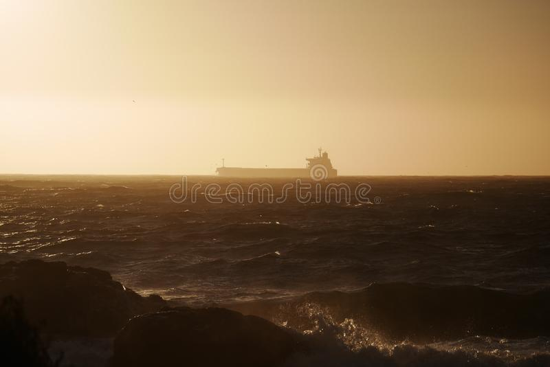 Download White Boat On Body Of Water During Sunset Stock Photo - Image of free, coast: 82955662