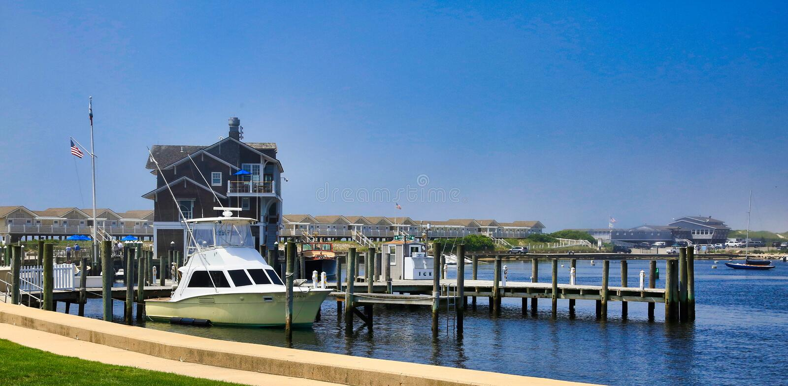 Watch Hill Westerly RH Boat Dock stock photography