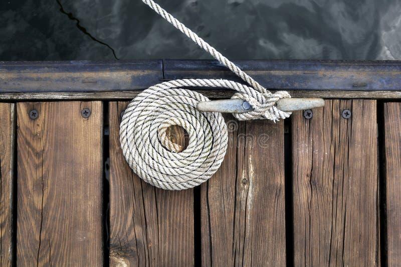 Download White Boat Rope stock image. Image of marina, sailing - 9885221