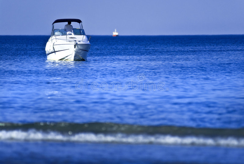 Download White boat on water stock image. Image of transportation - 2763217