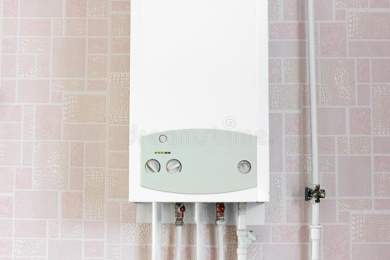 White boiler in the house.  stock photo