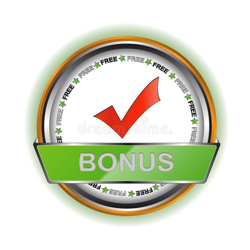 White bonus icon stock illustration